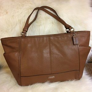 COACH PARK British Tan Leather E/W CARRIE Tote